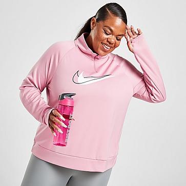 Nike Plus Size Double Swoosh 1/4 Zip Trainingsoberteil Damen