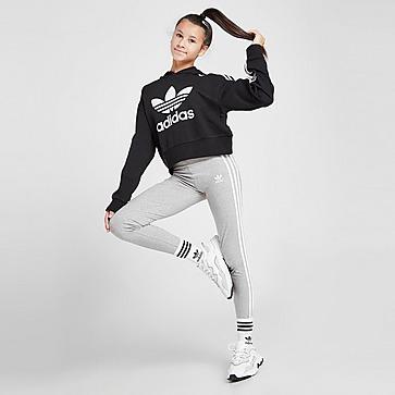 adidas Originals Girls' 3-Stripes Trefoil Leggings Kinder