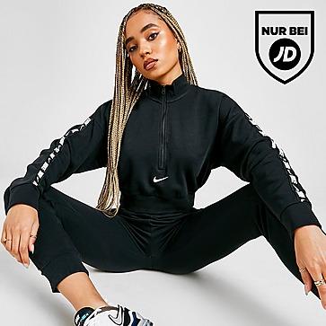 Nike Tape Logo 1/4 Zip Crop Top Damen