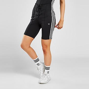 adidas Originals 3-Stripes High-Waisted Corset Shorts
