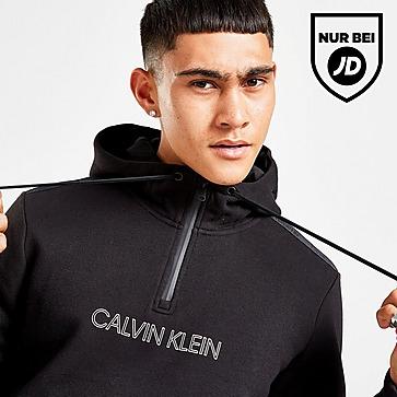Calvin Klein Central Logo Tape 1/2 Zip Hoodie Herren