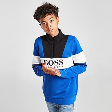 BOSS Colour Block 1/2 Zip Fleece Top Kinder