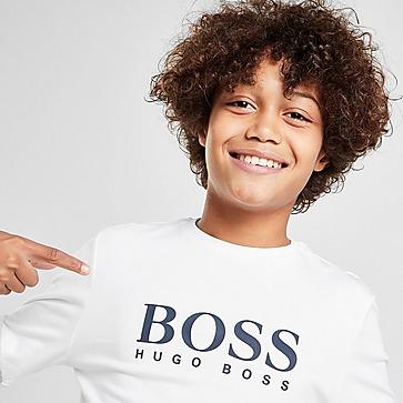 BOSS Logo Langarmshirt  T-Shirt Kinder