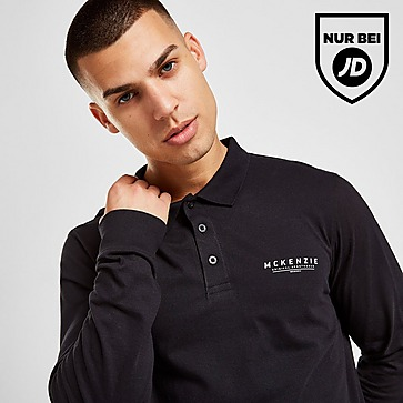 McKenzie Essential Long Sleeve Poloshirt Herren