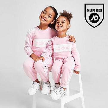 adidas Girls' Linear Essential Crew Trainingsanzug Kleinkinder