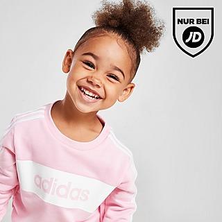 adidas Girls' Linear Essential Crew Trainingsanzug Baby