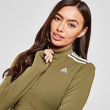 adidas Shine 1/4 Zip Langarmshirt  Training Top Damen