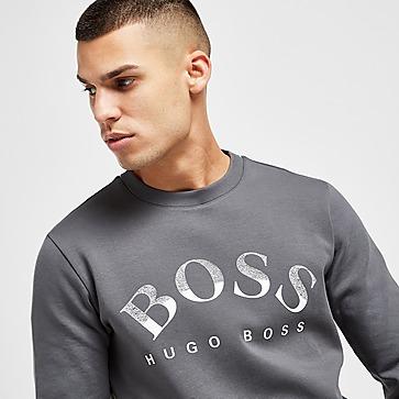 BOSS Salbo Large Logo Crew Sweatshirt Herren