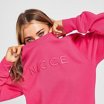 Nicce Embroidered Logo Crew Neck Sweatshirt Damen