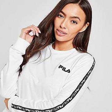 Fila Tape Langarmshirt  Boyfriend T-Shirt Damen