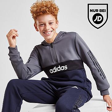 adidas Mixed Fabric 1/2 Zip Trainingsanzug Kinder