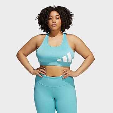 adidas Believe This Medium-Support Workout Logo Sport-BH – Große Größen