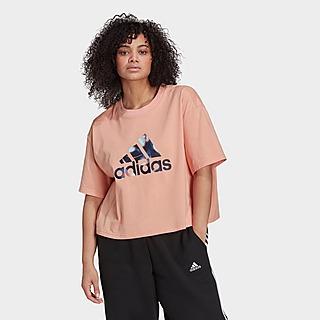 adidas U4U Crop Logo T-Shirt – Große Größen