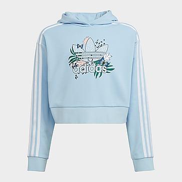 adidas Originals HER Studio London Animal Flower Print Crop Hoodie
