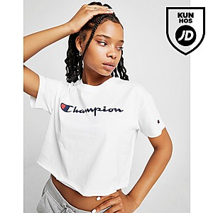 Champion Crop Script T Shirt Dame