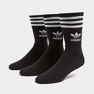 adidas Originals 3 Pak Solid Mid Crew Sokker
