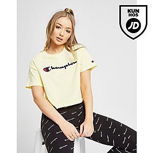 Champion Crop Logo T Shirt Dame