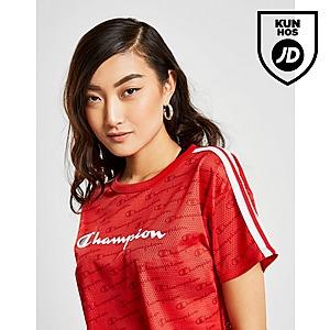 Champion Logo Mesh Crop T Shirt Dame