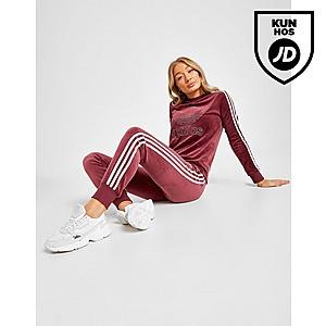 adidas Originals 3 Stripes Velvet Long Sleeve T Shirt