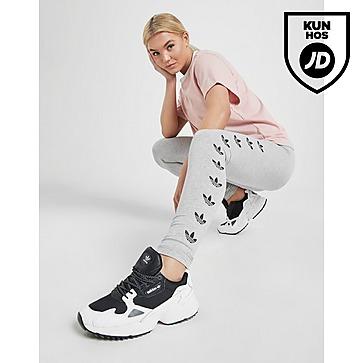 Adidas Originals Black 3 stripes Trefoil Velvet Leggings