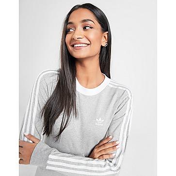 adidas Originals 3 stripes Velvet Long Sleeve California T