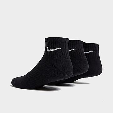 Nike 3 Pack Cushioned Quarter Sokker Herre