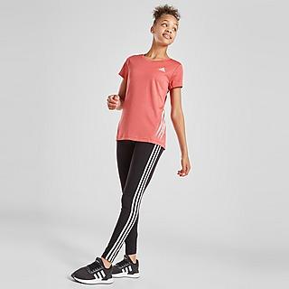 adidas Girls' Badge of Sport 3-Stripes Leggings Junior