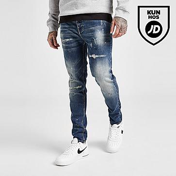 VALERE Washed Slim Jeans Herre