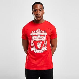 Official Team Liverpool FC Crest Short Sleeve T-Shirt