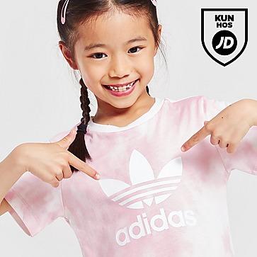 adidas Originals Girls' Tie Dye T-Shirt/Cycle Shorts Set Children