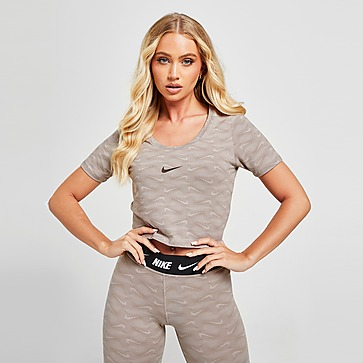 Nike All-Over Print Cropped T-Shirt