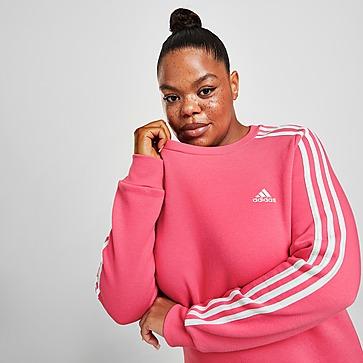 adidas Core 3-Stripes Plus Size Crew Sweatshirt