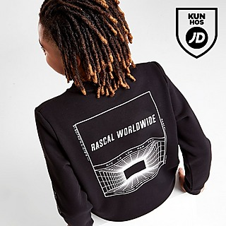 Rascal Ombre Grid Crew Sweatshirt Junior
