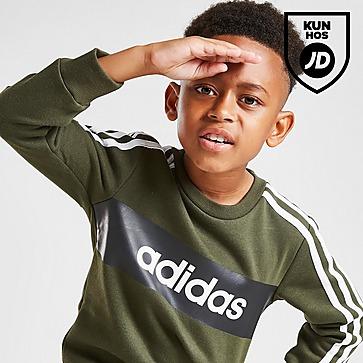 adidas Linear Essential Crew Tracksuit Children