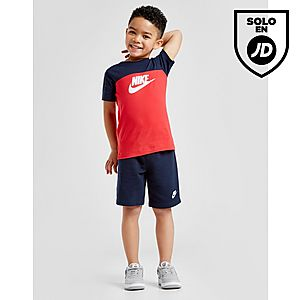 84edf6165 Nike Futura Colour Block T-Shirt Shorts Set Children ...