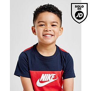 f189d041c ... Nike Futura Colour Block T-Shirt Shorts Set Children