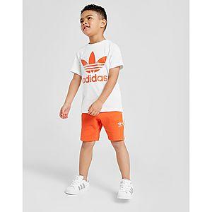 92c11f6f9 adidas Originals conjunto camiseta pantalón Trefoil infantil ...