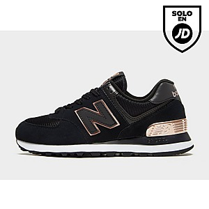 new balance negras 574 mujer