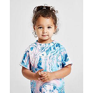 d0345f144 ... adidas Originals conjunto Girls  Marble camiseta y leggings para bebé