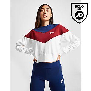 331e6377e Nike Heritage Colour Block Crew Sweatshirt