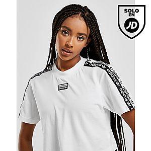 Originals T Tape Adidas Shirt Crop ym08NPvOnw