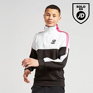 ILLUSIVE LONDON Poly Cut & Sew 1/4 Zip Top Junior