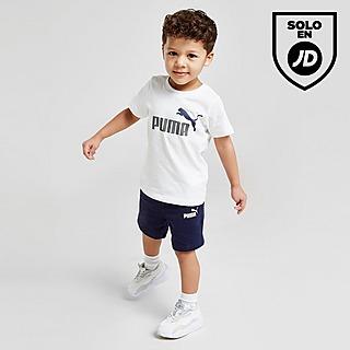 Puma conjunto camiseta/shorts Essential Logo para bebé