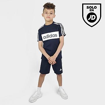 adidas conjunto camiseta/pantalón corto Linear Essential infantil