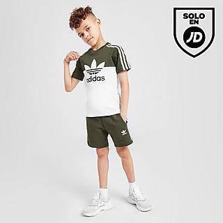 adidas Originals conjunto camiseta/pantalón corto Sliced infantil