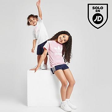 adidas Originals conjunto camiseta/pantalón corto 3-Stripes infantil