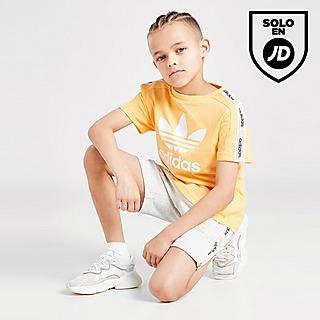 adidas Originals conjunto camiseta/pantalón corto Tape infantil