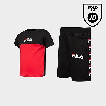 Fila conjunto camiseta/pantalón corto Repeat Logo para bebés