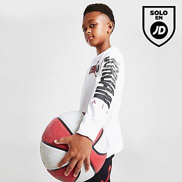Jordan conjunto camiseta de manga larga/pantalón infantil