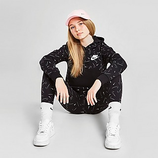 Nike sudadera con capucha All Over Swoosh Print júnior